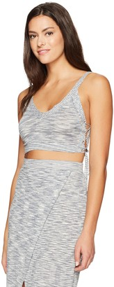 BCBGeneration Women's Lace up Space Dye Crop Top