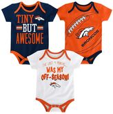 Baby Denver Broncos 3-Piece Bodysuit Set