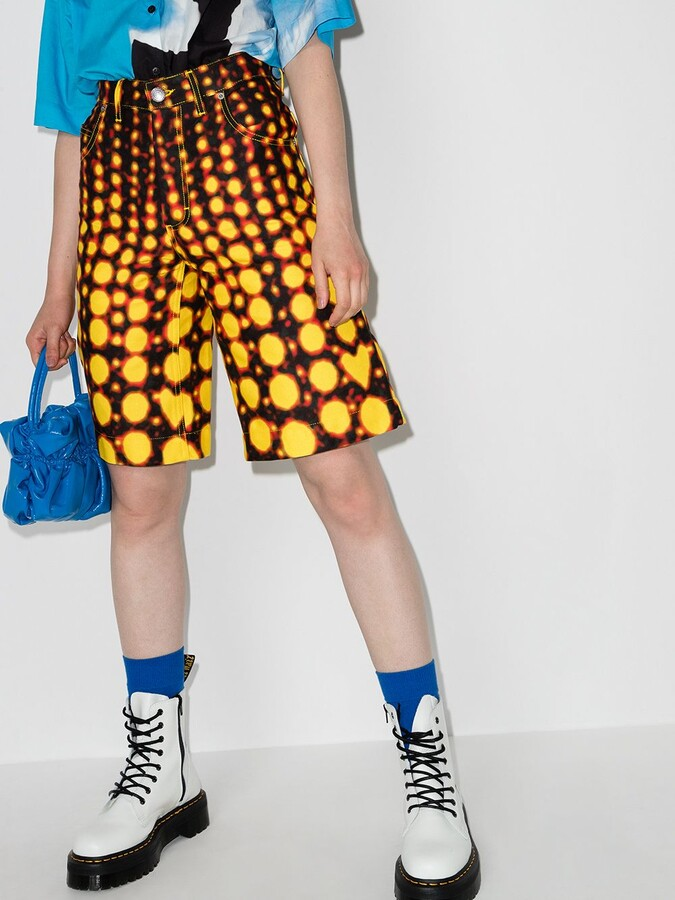 Thumbnail for your product : Charles Jeffrey Loverboy Art denim shorts