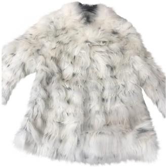 Yves Salomon Ecru Rabbit Coat for Women