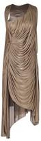Yiqing Yin Golden Jersey Draped Dress