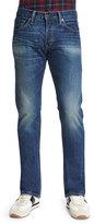 Tom Ford Straight-Fit Vintage-Wash Selvedge Denim Jeans, Blue