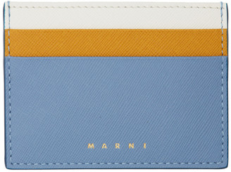 Marni Blue and Yellow Colorblock Card Holder