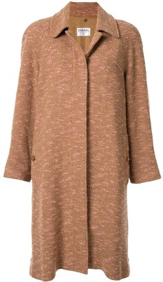 Chanel Pre-Owned single-breasted marled coat