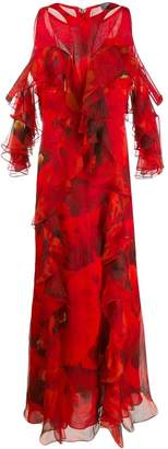Alexander McQueen Avalon poppy print long dress
