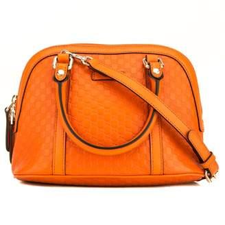Gucci Dome Orange Leather Handbags