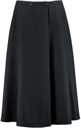 I'mdividual Midi Skirt In Black Organic Structured Cotton