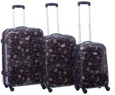 American Flyer Swirl 3-Piece Hardside Spinner Luggage Set