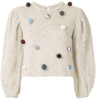 Framed Flocos knit blouse