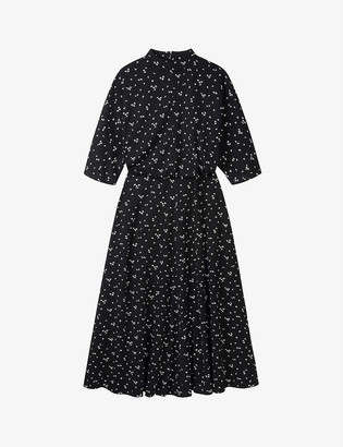 The White Company Floral-print high-neck jersey midi dress