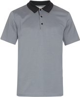 Balenciaga Contrast-collar cotton-piqué polo shirt