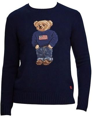 Ralph Lauren Purple Label Cashmere Flag Bear Sweater