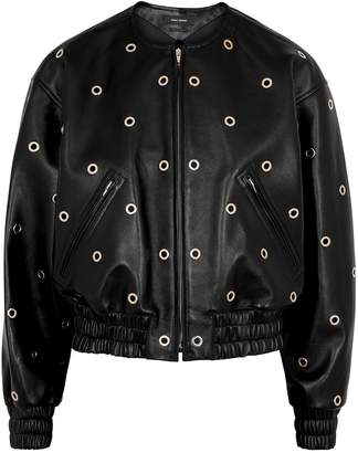 Isabel Marant Quenty Eyelet-embellished Leather Jacket