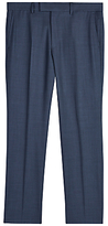 Jaeger Sharkskin Wool Regular Fit Suit Trousers, Chambray