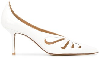 Francesco Russo Laser Cut 80mm Heel Pumps
