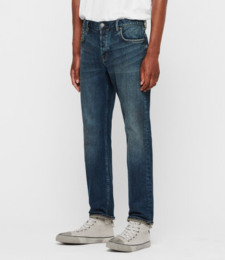 AllSaints Carter Straight Jeans, Washed Indigo