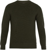 Belstaff Cardington Leather-appliqué Wool-blend Sweater