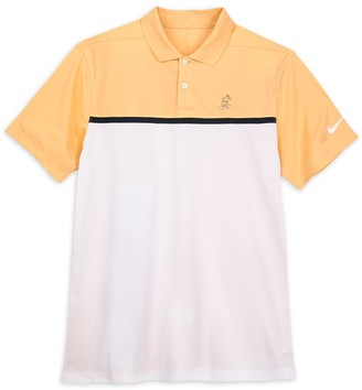 Disney Mickey Mouse Performance Polo Shirt for Men by Nike Peach and White Color Block