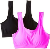 Fruit of the Loom Women's Seamless Sport Bra with Cookies (Pack of 2)