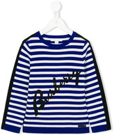 Burberry logo striped jumper - kids - Cotton - 6 yrs