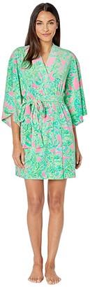 Lilly Pulitzer Elaine Robe (Mandevilla Baby Pink Sand Paradise) Women's Pajama