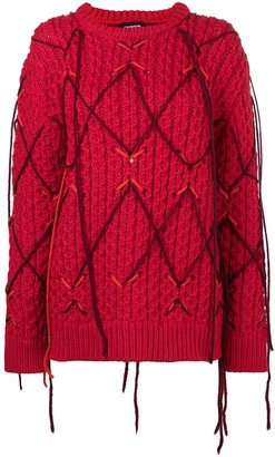 Calvin Klein Fringed Knitted Sweater