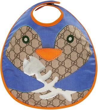 Gucci Baby penguin cotton bib