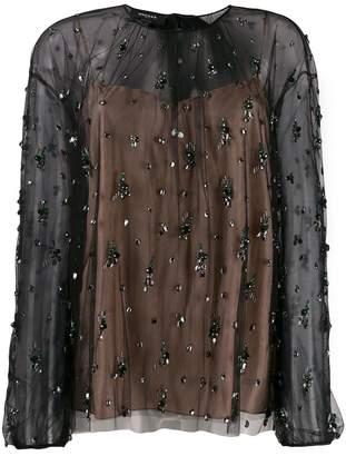Rochas crystal embellished blouse