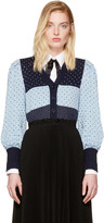 Marc Jacobs Navy Jacquard Cardigan