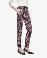 Ann Taylor Tall Winter Geranium Jacquard Ankle Pants