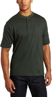 Key Apparel Key Industries Men's Big Big & Tall Heavyweight 3-Button Short Sleeve Henley Pocket T-Shirt