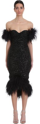 Nervi Luna Dress In Black Polyester