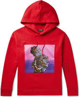 Raf Simons Oversized Printed Loopback Cotton-Jersey Hoodie