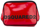 DSQUARED2 logo wash bag - men - Polyester/Polyurethane/viscose - One Size
