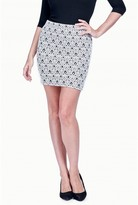 Select Fashion Fashion Womens Grey Dmlaztec Jacquard Mini Skirt - Sizes 6 To 20 - size 6