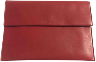 Marni Burgundy Leather Clutch bags