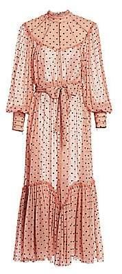 Zimmermann Women's Eye Spy Silk Polka Dot Dress