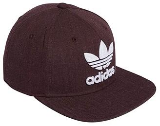 adidas Originals Trefoil Chain Snapback Cap (Maroon Heather) Caps