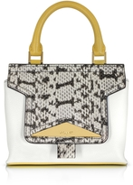 Vionnet Mosaic 20 Multicolor Leather & Elaphe Mini Satchel Bag w/Shoulder Strap