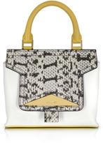 Vionnet Mosaic 20 Multicolor Leather & Elaphe Mini Satchel Bag w/Shoulder Strap