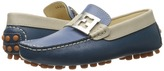 Fendi Color Block Moccasins w/ Logo Detail Boys Shoes