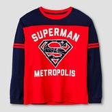 Superman Boys' Long Sleeve T-Shirt Red