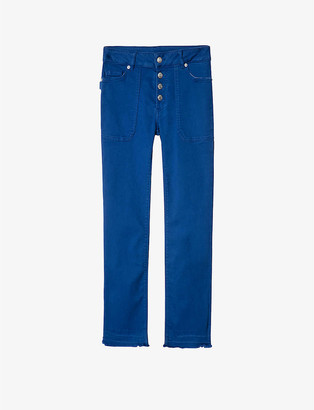 Zadig & Voltaire Londa frayed-hem straight-leg mid-rise jeans
