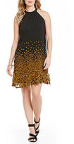 ECI 3D Applique Sleeveless Chiffon Dress