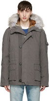 Yves Salomon Grey Short Original Parka