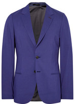 Paul Smith Blue Slim-Fit Modal, Cotton and Cashmere-Blend Blazer