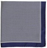 Barneys New York MEN'S HOUNDSTOOTH SILK POCKET SQUARE