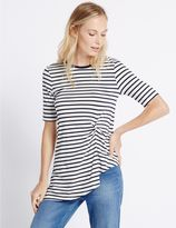 Marks and Spencer Striped Twist Front Tunic