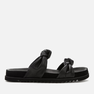 Whistles Women's Amira Soft Knotted Double Strap Sandals - Black