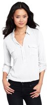 Long Sleeve White Collar Shirt Women - ShopStyle